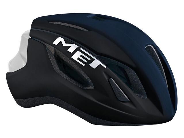 MET Strale casco per bici blu/nero